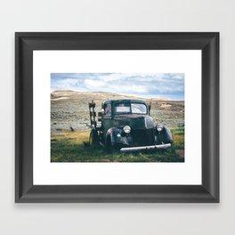 Forgotten Flatbed Truck Framed Art Print