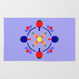 Table Tennis Design Rug