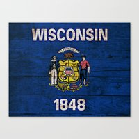 wisconsin Canvas Prints featuring Wisconsin by C Liza B
