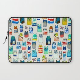 Lots of Watercolor Kitty Cats Laptop Sleeve