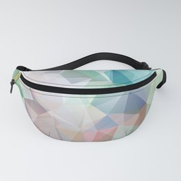 Delicate green polygonal pattern . Fanny Pack