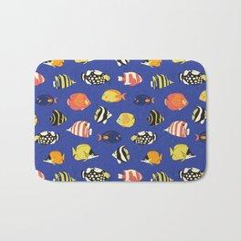 Exotic School Of Reef Fish Bath Mat