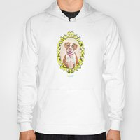 pit bull Hoodies featuring Remy the Pit Bull by Alina Bachmann