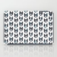 boston terrier iPad Cases featuring BOSTON TERRIER by Barbarian // Barbra Ignatiev