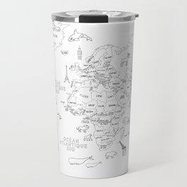 French World Map Travel Mug
