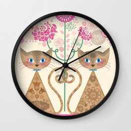 We Are Siamese Wall Clock