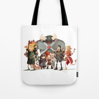 dungeons and dragons Tote Bags featuring Dungeons and Dragons by Markus Erdt