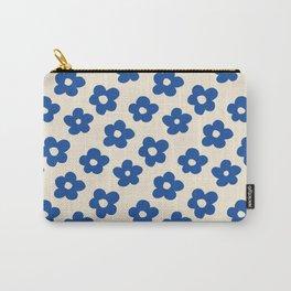 Indigo Flower Pattern #indigo #blue #navy #pattern #floral Carry-All Pouch