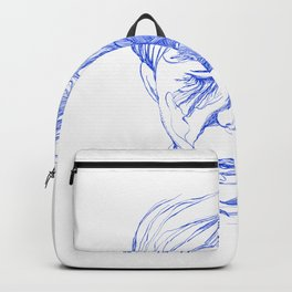 Andy portrait (Blue) Backpack