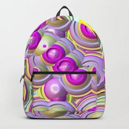 Bright yellow and pink circles Backpack
