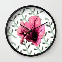 Uno Flower Wall Clock