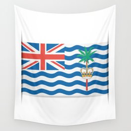 Flag of British Indian Ocean Territory. The slit in the paper with shadows.  Wall Tapestry