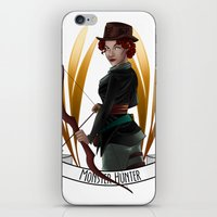 monster hunter iPhone & iPod Skins featuring Steampunk Occupation Series: Monster Hunter by kortothecore