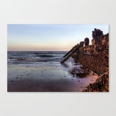 Withernsea Groynes at Sunset Canvas Print