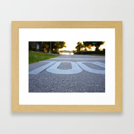 School zone Framed Art Print