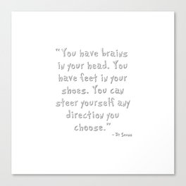 Dr Seuss glitter Canvas Print