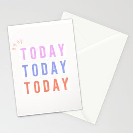 Just Do it...Today (sunset colors) Stationery Cards