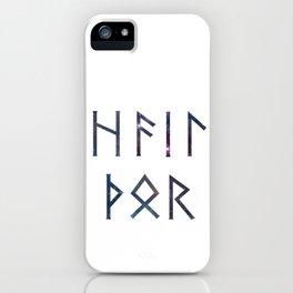 Hail Thor - Runes iPhone Case