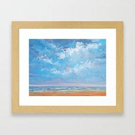 Seascape January 2018 Framed Art Print