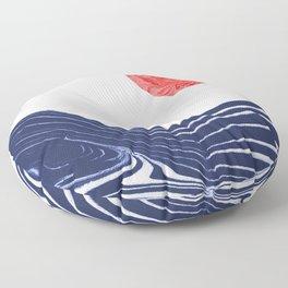 Furoshi - spilled ink marble water wave painting sun sea waves water aqua seaside abstract minimal  Floor Pillow