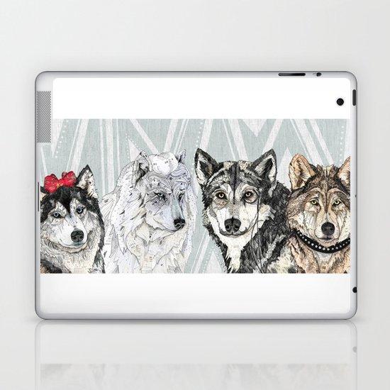 Wolf Family Portrait Laptop & iPad Skin