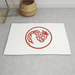 Tattoo Style Red Dragon Rug