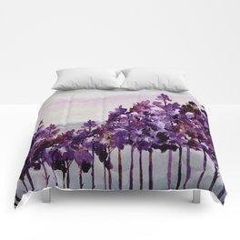 Purple Trees Comforters