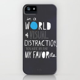 Visual Distractions iPhone Case
