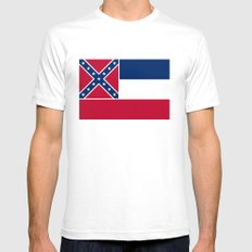 State Flag of Mississippi Mens Fitted Tee White SMALL