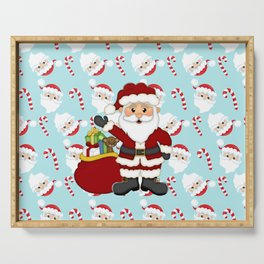 Santa and Candy Canes Serving Tray