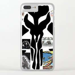"""Mandalorian Collage"" Clear iPhone Case"