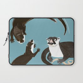 Asiatic and African clawless otter Laptop Sleeve