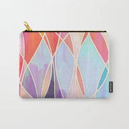 Purple & Peach Love - abstract painting in rainbow pastels Carry-All Pouch