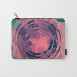 Blush Pink and Teal Circle Abstract Carry-All Pouch