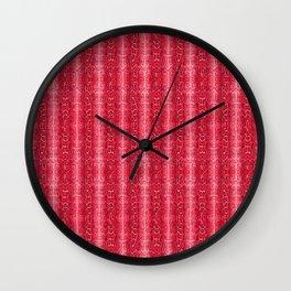 Pink Snake Skin Animal Print Wild Nature Wall Clock