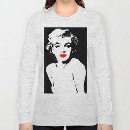 Marilyn BW Lipstick Long Sleeve T-shirt