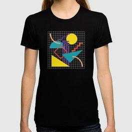 Memphis Pattern - 80s Retro Black T-shirt