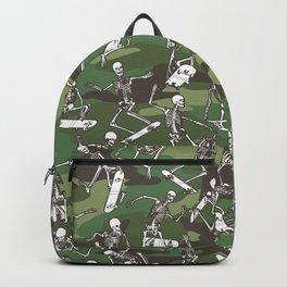 Grim Ripper Skater Camo WOODLAND GREEN Backpack