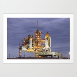 741. STS-133 Payload Canister onboard Space Shuttle Discovery Art Print