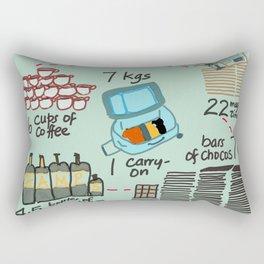 Carry on Seven Rectangular Pillow