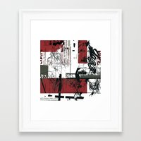 jazz Framed Art Prints featuring jazz by onoff mode