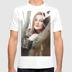 woman 3 White MEDIUM Mens Fitted Tee