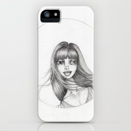 JennyMannoArt Graphite Drawing/Abbey iPhone Case