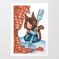 pancake tower Art Print