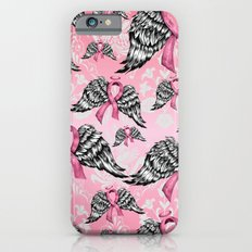 Breast cancer awareness winged ribbons pattern.  Slim Case iPhone 6
