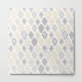 Almas diamond ikat pure Metal Print