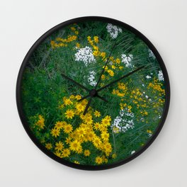 Flowers On the Edge Wall Clock