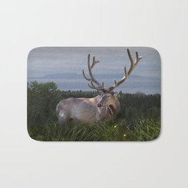Elk or Wapiti Photographic Nature Portrait Bath Mat