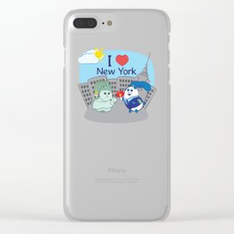 Ernest and Coraline | I love New York Clear iPhone Case