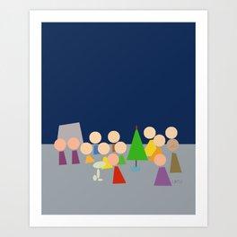 Charlie Brown Christmas Abstract Art Art Print